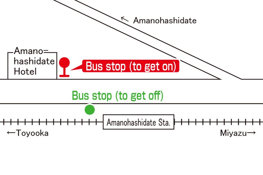 Bus stop:Amanohashidate