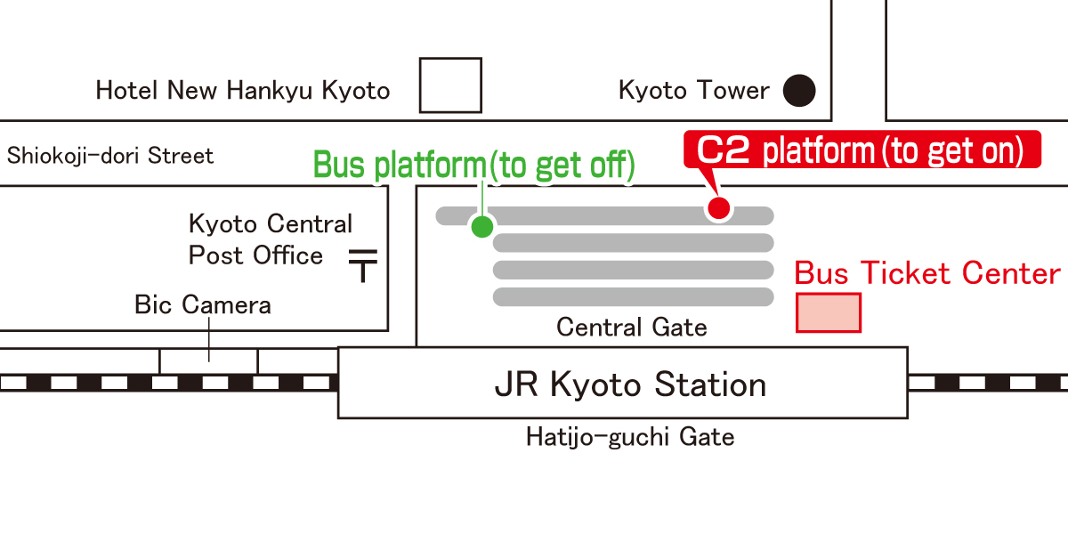 Bus stop:Kyoto Station