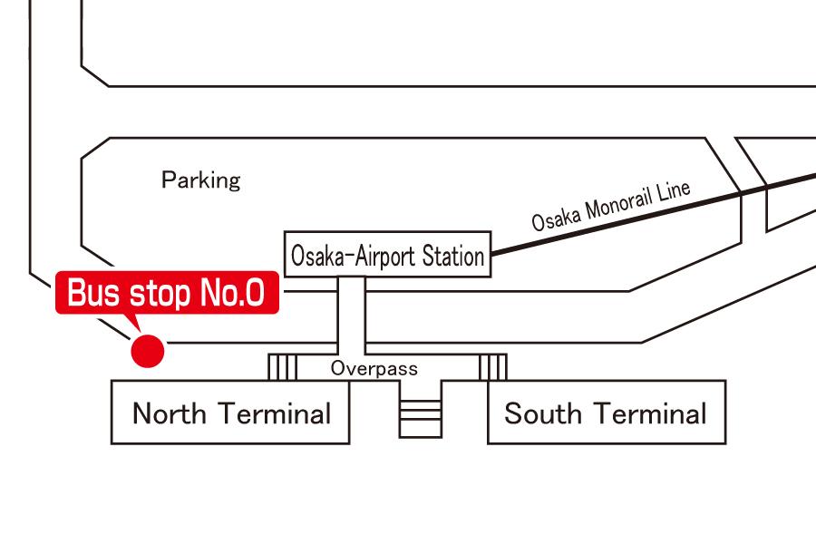 Bus stop:Osaka International Airport