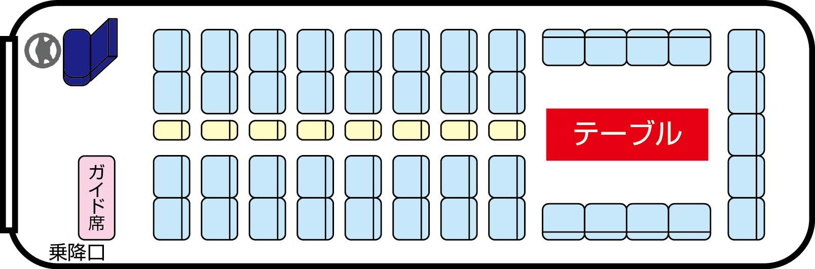大型バス(定員53名)